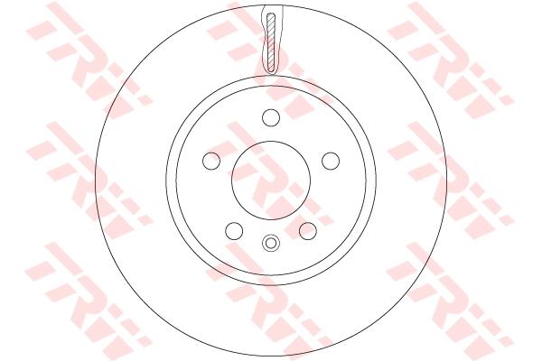 """Диск тормозной передний OPEL ASTRA J (для POC) 17"""" DF6260"""