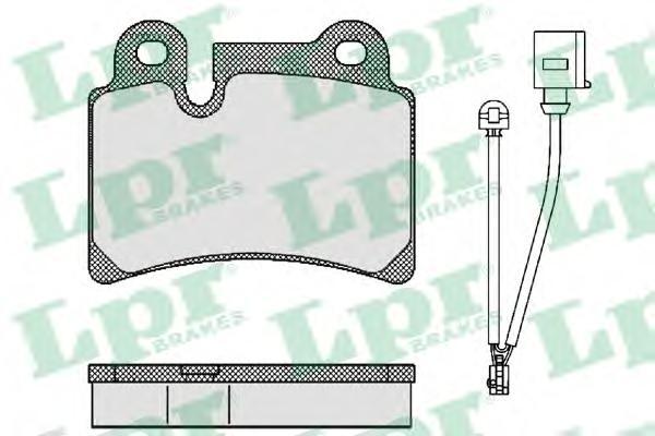 Колодки тормозные LPR 05P1380 VW Touareg 3.2/3.6/3.0TDi V6 06- задн