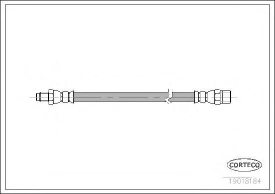 Шланг тормозной задний L=R