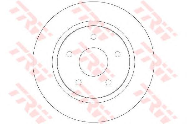 Диск тормозной задний DODGE JOURNEY, CHRYSLER VOYAGER V DF6325