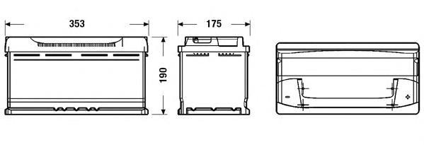 Аккумуляторная батарея 95Ah DETA POWER 12 V 95 AH 800 A ETN 0(R+) B13 353x175x190mm 22.8kg