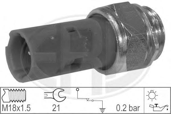 Датчик давления масла MITSUBISHI: CARISMA (DA) 1.9 TD (DA4A) 95-06, CARISMA седан (DA) 1.9 TD (DA4A) 96-06\ RENAULT: 19 I (B/C53) 1.7/1.7 (B/C53B)/1.7 (B/C53C)/1.8 16V
