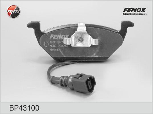 Колодки тормозные FENOX BP43100 GOLF V PLUS