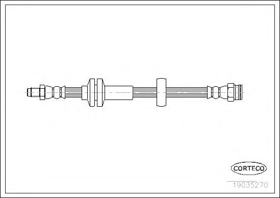 Шланг тормозной FIAT: DUCATO c бортовой платформой 100 Multijet 2,2 D/120 Multijet 2,3 D 06-, DUCATO