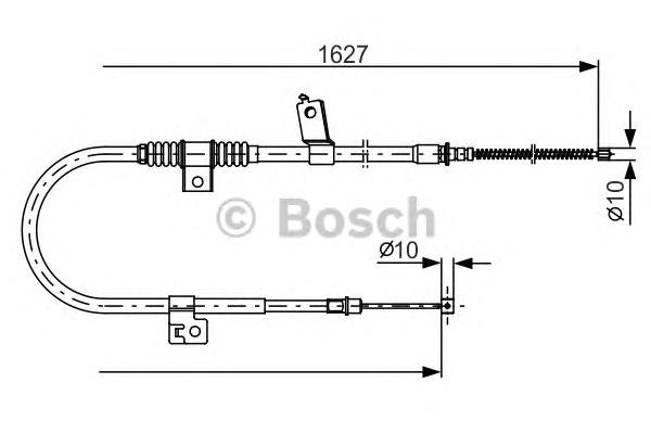 Трос ручного тормоза BOSCH 1987482274 MMC OUTLANDER 07-/PEUGEOT 4007 L