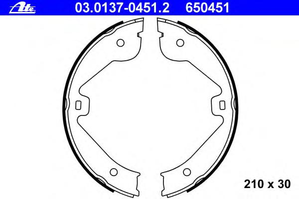 Колодки тормозные стояночного тормоза AUDI Q7/VW TOUAREG 2003-2006