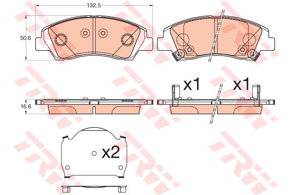 Колодки передние HYUNDAI i10 (IA), SUZUKI SX4 C-CROSS GDB3618