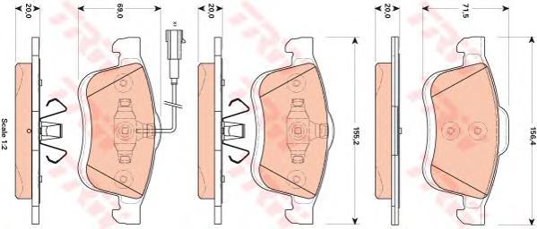 Колодки тормозные TRW GDB1864 FIAT DOBLO 10- пер