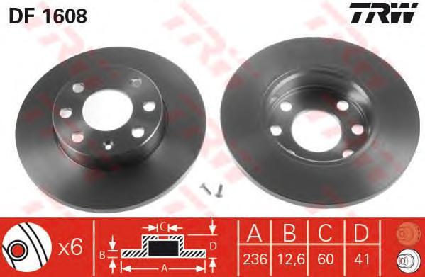 Диск тормозной передн OPEL: ASCONA C 81-88, ASCONA C хечбэк 81-88, ASTRA F 91-98, ASTRA F CLASSIC хечбэк 98-02, ASTRA F CLASSIC седан 98-02, ASTRA F CLASSIC уни