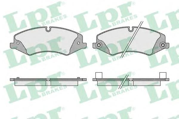 Комплект тормозных колодок 05P1616