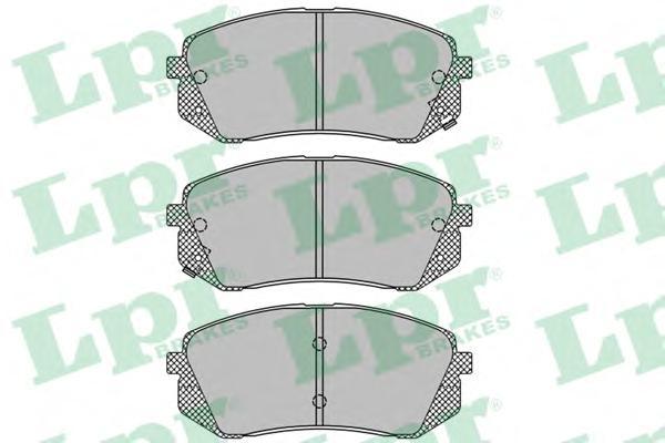 Колодки тормозные LPR 05P1689 HYUNDAI I40