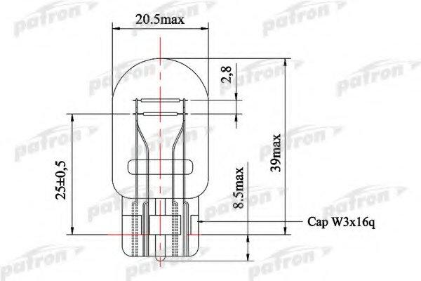 Лампа накаливания (10ШТ в упаковке) W21