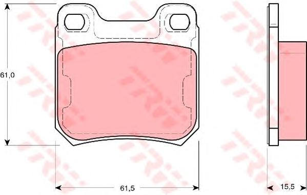 Колодки задние OPEL OMEGA B, VECTRA B, SAAB 9-3, 9-5 GDB1346