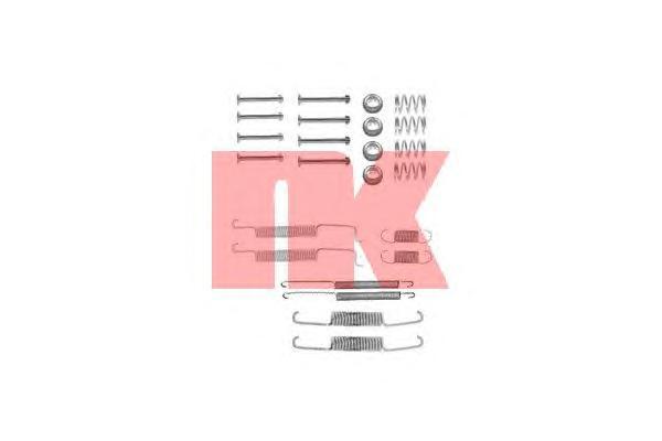 Монтажный комплект задних барабанных колодок / AUDI,SEAT,VW (для колодок 180*30 и 200*40) 78~