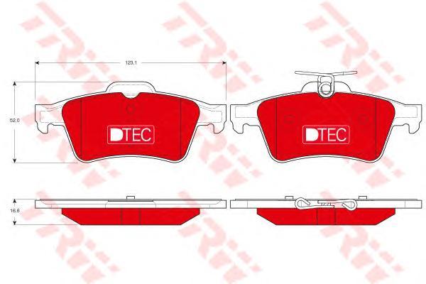Колодки задние FORD FOCUS II, MAZDA 3 (BK, BL) GDB1621DTE