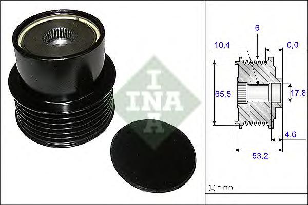 Шкив генератора INA