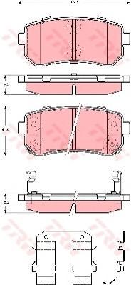 Колодки задние KIA CEE'D II, CERATO II, HYUNDAI IX35, IX20, I30, SONATA V-VI GDB3421