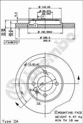 Диск тормозной VOLKSWAGEN GOLF2/3/PASSAT/POLO/VENTO 81>01 передний вент.