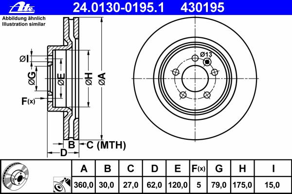 Диск тормозной передн, LAND ROVER: DISCOVERY IV 3.0 4x4/3.0 SDV6 4x4/3.0 TD 4x4/4.0 4x4/5.0 V8 4x4 09-, RANGE ROVER SPORT 2.7 TDVM 4x4/3.0 TD 4x4/3.0 TD V6 4x4/3.6