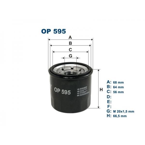 Фильтр масляный OP595