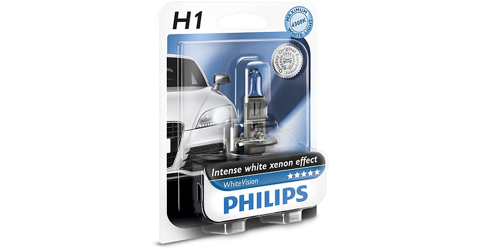 Лампа H1 (55W) P14,5s White Vision 4300K +60% 12V 12258WHV B1 37156730