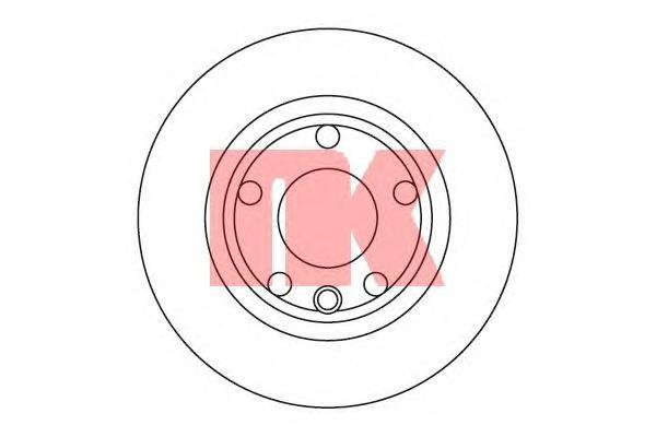 Диск тормозной передний / VW Transporter T-4 R15 ( 18-282 ) 90-96