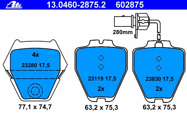 Колодки тормозные дисковые передн, AUDI: A4 S4 quattro 94-01, A4 Avant S4 quattro 94-01, A6 2.7 T/2.7 T quattro/4.2 quattro/S6 quattro 97-05, A6 Avant 2.7 T/2.7 T quattro/4.2