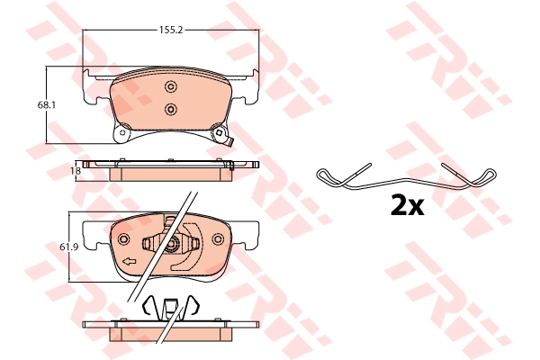 Колодки тормозные дисковые OPEL CORSA E 1.0-1.4LPG 07.14-