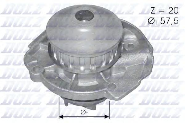 Насос водяной Fiat Punto/Uno/Cinquecento/Tipo 1.0-1.2i 84-98