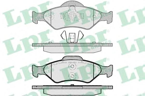 Колодки тормозные LPR 05P795 FORD FIESTA/KA