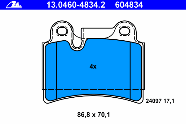 Колодки тормозные дисковые задн, VW: TOUAREG 2.5 R5 TDI/3.0 TDI/3.0 V6 TDI/3.2 V6/3.6 V6 FSI/4.2 V8/4.2 V8 FSI/5.0 R50 TDI/5.0 V10 TDI/6.0 W12 02-10