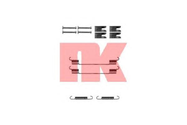 Монтажный комплект задних барабанных колодок / FORD Focus-II,Transit Connect 02~