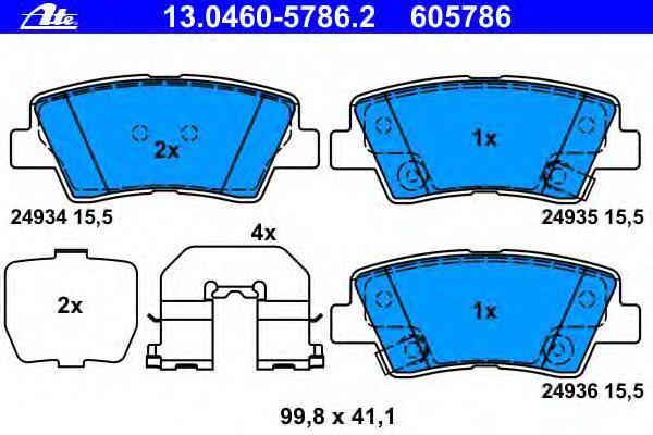 Колодки тормозные дисковые HYUNDAI: SONATA V (NF) = 2.0 CRDi/2.0 VVTi GLS/2.4/3.3= [05 - ] , i40 (VF) = 1.6 GDI/1.7 CRDi/2.0 GDI= [12 - ]
