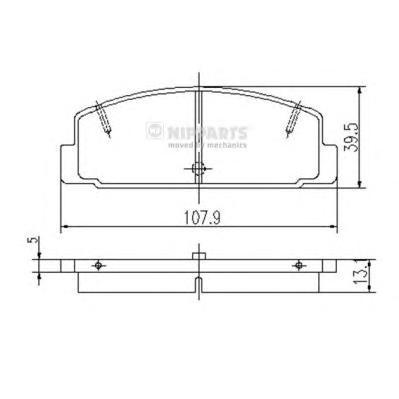 Комплект тормозных колодок J3613002