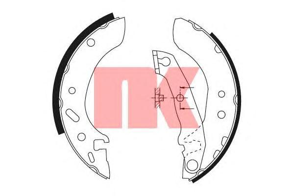 Колодки тормозные барабанные / FORD Escort 1.3• Ka, Fiesta, Puma 95~• MAZDA 121 1.3-1.8 96~ (180x32)