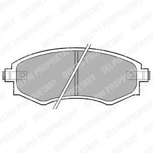 Колодки передние HYUNDAI ELANTRA (XD), MATRIX, SSANGYONG KORRANDO LP606