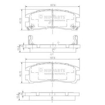 Комплект тормозных колодок J3615003