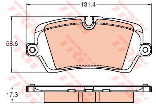 Колодки задние RANGE ROVER SPORT (LW) (4/13- ) GDB2029