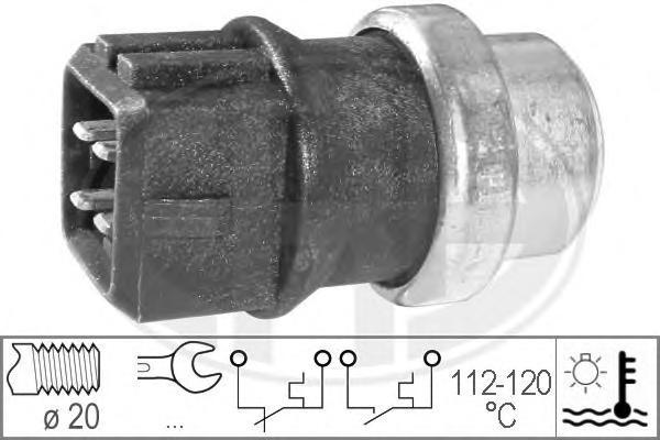 Датчик включения вентилятора AUDI: A3 (8L1) 1.9 TDI 96-03\ FORD: GALAXY (WGR) 1.9 TDI/2.0 i/2.8 i V6/2.8 i V6 4x4 95-06\ SEAT: ALHAMBRA (7V8, 7V9) 1.8 T 20V/1.9 TDI 96-10, CO
