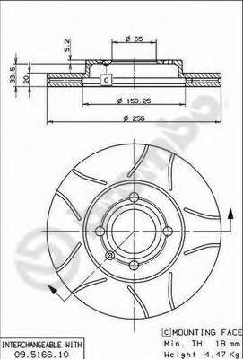 Диск торм. <BREMBOMAX> Fr VAG, Re ВАЗ-2110/12