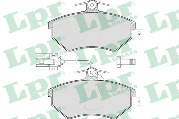 Колодки тормозные LPR 05P495 =GDB1057 VW PASSAT с датч