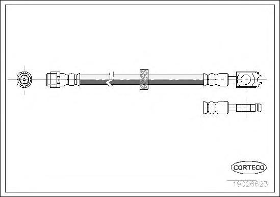 Шланг тормозной SEAT: AROSA 1.0/1.4/1.4 16V/1.4 TDI/1.7 SDI 97-04 \ VW: LUPO 1.0/1.4/1.4 16V/1.4 FSI/1.4 TDI/1.7 SDI 98-05, PASSAT 2.0 16V/2.8 VR6 88-