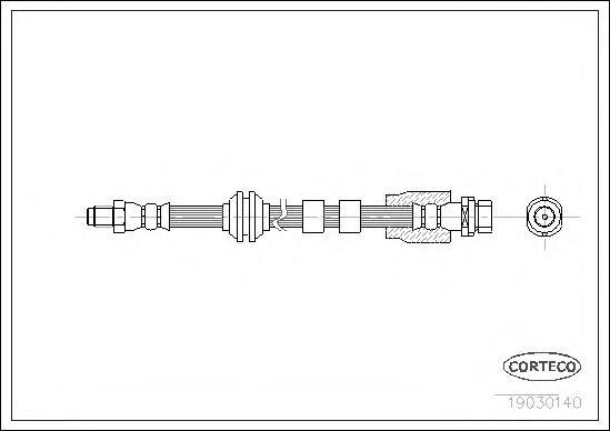Шланг тормозной FORD: MONDEO III 1.8 16V/1.8 SCi/2.0 16V/2.0 16V DI/ TDDi/ TDCi/2.0 16V TDDi/ TDCi/2.0 TDCi/2.2 TDCi/2.5 V6 24V/3.0 V6 24V/ST220 00-07