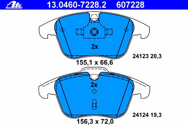 Колодки тормозные дисковые передн, FORD: GALAXY 1.6 EcoBoost/1.6 TDCi/1.8 TDCi/2.0/2.0 Flexifuel/2.0 TDCi/2.2 TDCi/2.3 06-, MONDEO IV 1.6 EcoBoost/1.6 TDCi/1.6 Ti/1.8 TDCi/2.0
