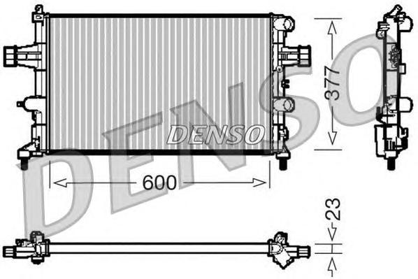 Радиатор системы охлаждения OPEL: ASTRA G Наклонная задняя часть (F48, F08) 1.2 16V 98 - 05 , ASTRA G седан (F69) 1.2 16V 98 - 05 , ASTRA G универсал