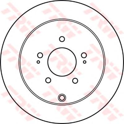 Диск тормозной задний MITSUBISHI OUTLANDER II, PEUGEOT 4007 DF4963