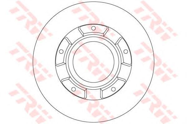 Диск тормозной задний FORD TOURNEO/TRANSIT CUSTOM 2,2TDCI 12/12- DF6510S