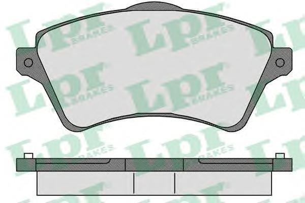 Колодки тормозные LPR 05P833 FREELANDER 00- пер
