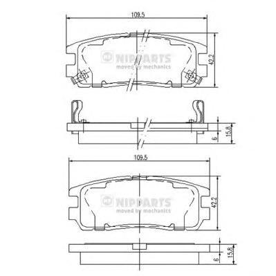 Комплект тормозных колодок J3619001