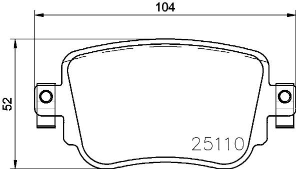 К-т торм. колодок Re VAG Q3 14-, Sharan 15-